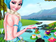 Frozen Elsa Ice Bucket Makeover Game
