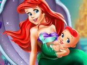 Ariel and the Newborn Baby Game