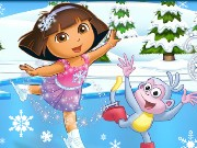Dora Ice Skating Game