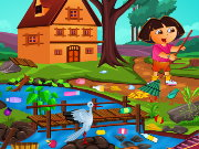 Dora Outdoor Cleaning Game