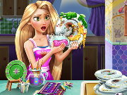Rapunzel Dish Washing Realife Game