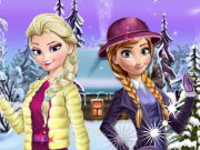 Elsa And Anna Winter DressUp Game
