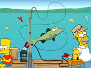 Homer Simpsons gone fishing Game