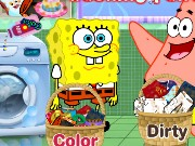 Spongebob and Patrick Star Washing Pants Game