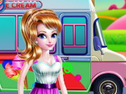 Girly Ice Cream Truck Car Wash Game