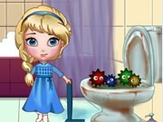 Elsa Clean Bathroom Game