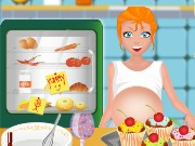 Pregnant Mom Cooking Muffins Game