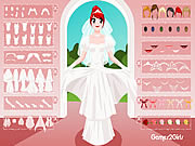 White Bridal Dressup Game