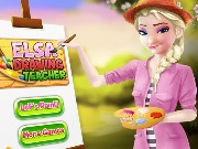 Elsa Drawing Teacher Game