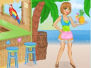 Tiki Cafe Waitress Game
