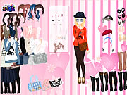 Pink Wallpaper Dress Up Game