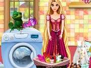Rapunzel Washing Clothes Game