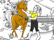 Lovely Horse Coloring Game