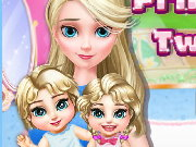Princess Elsa Twins Care Game
