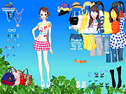 Spring Leaves Dressup Game