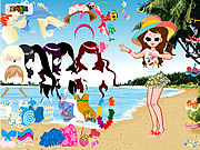 Beach Fashion Dresses Game