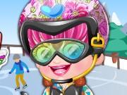 baby hazel skifahrer mode spiel