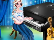 Pregnant Elsa Piano Performasnce Game