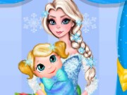 Elsa Baby Room Cleaning Game