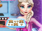 Elsa cooking Gingerbread Game