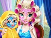 Ice queen Mommy Real Makeover Game