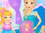 Elsa Womb Baby Play Game