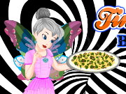Tinkerbell Black And White Pizza Game