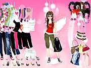 Pink Feather Dress Up Game