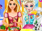 Elsa And Rapunzel Cooking Disaster Game