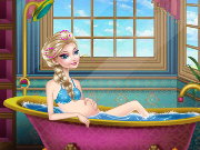 Pregnant Elsa queen Spa Game