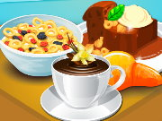 Cooking Milk Cereals and Pudding Game