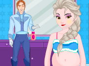 Pregnant Elsa Shopping Makeover Game