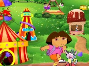 Dora At Theme Park Game