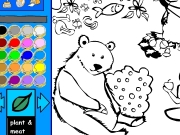 Plant and meat eaters coloring Game
