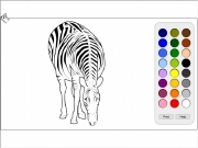 Zebra coloring Game