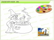 Girl pot coloring Game