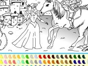 Princess and prince coloring Game