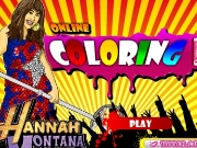 Hannah montana Online Coloring Game