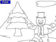 Running snowman coloring Game