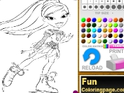 Bratz coloring pages Game