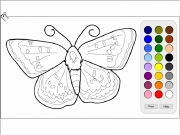 Butterfly 2 coloring Game