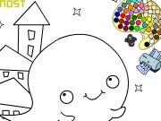 Boo the ghost coloring Game