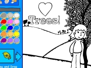 I love trees coloring Game