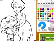 Dora And İts Mother Coloring Game
