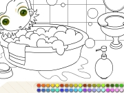 Coloring bathroom Game