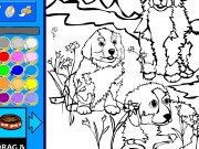 Mountain dogs coloring Game