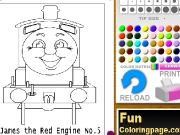 James The Red Engine Coloring Game