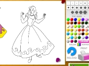 Cindirella coloring Game