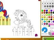 Little poney coloring Game