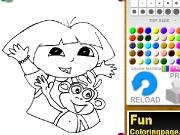 Dora and monkey coloring Game